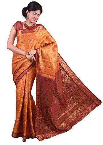 Kanchipuram contrast Border Art Silk Saree Dno-87-DC-GOLD