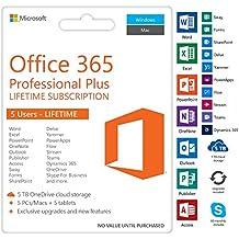 Microsoft OFFICE 365 Pro Plus 2016 Multipack senza Scadenza fino a 5 PC - Originale