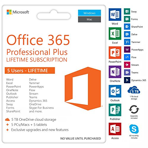 Microsoft Office 365 Professional Plus (5 Geräte) Account LIFETIME