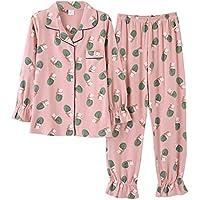 DUKUNKUN Cute Print Home Wear Pajama Set Pantalones De Manga Larga De Algodón Lounge-M