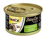 GimCat ShinyCat in Jelly Hühnchen – Katzenfutter mit Huhn in Gelee für ausgewachsene Katzen – 24 Dosen (24 x 70 g)