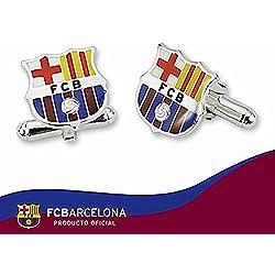 Gemelos escudo F.C. Barcelona Plata de ley esmaltado
