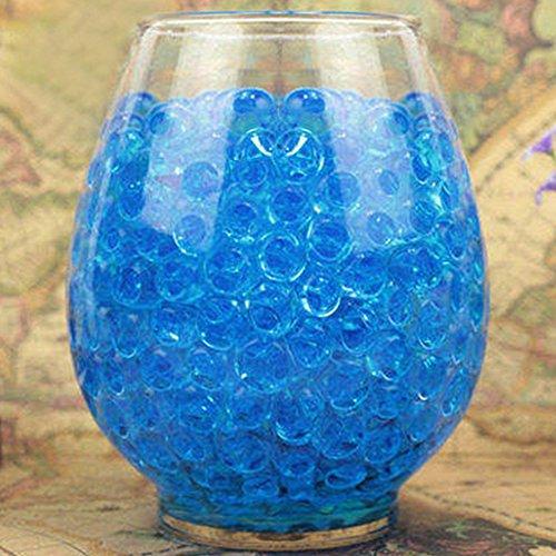 1000 perlas de gel de cristal para barro de tierra y cristales, perlas de agua, bolas de agua transparentes para jarrones de niños, decoración del hogar, azul, Tamaño libre
