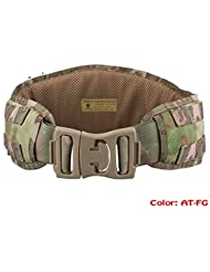 Cinturón táctico modular 1000D ATAIRSOFT, nailon, resistente, para batalla, combate, acolchado, duradero, para pistolas de aire comprimido, aplicaciones militares, camping, caza, AT FG