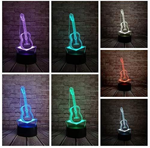 (Musik Coole Gitarre Bass 3D Led Lampe Nachtlicht Für Musiker Home Tischdekoration Geburtstag Weihnachtsgeschenk Geschenk)