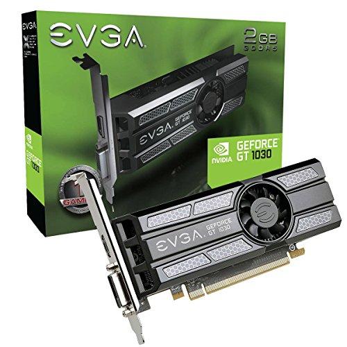 EVGA GeForce GT 1030 SC 2GB GDDR5 Low Profile Grafikkarte 02G-P4-6333-KR (Geforce Gt 2gb)