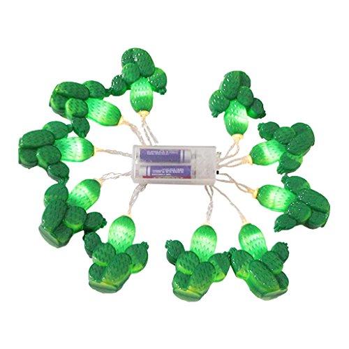 Cactus Stringa Forma, Lampada Striscia Di 10 LED, Decorazioni Di Natale Matrimonio Partito