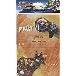 Los Vengadores unidades de 20invitaciones de fiesta Marvel Iron Man de Capitán América