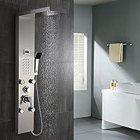 Auralum Colonne de Douche Jacuzzi avec LED Moniteur de température de l'eau Set de douche l'eau Multifonction facile à utiliser dans salle de bain