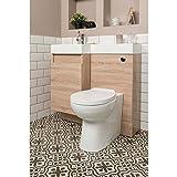 Aquariss Designer RH Oak Combi Bathroom Vanity Unit with Basin + Back to Wall Toilet