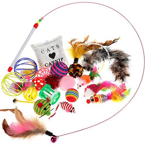 Nabance 20 Stück Katzenspielzeug Katzen Spielzeug Katzenspielzeug mit...