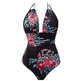 Rabais Maillot de Bain Femme 1 Pièce Amincissant Bikini Monokini Push Up Nœud Désign V Swimwear -...