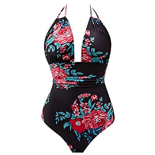 c51ad12fe2 Moonuy Femme Maillot de Bain 1 pièce Elegant Amincissant Monokinis Taille  Haut Beachwear Rembourré Swimwear Triangle