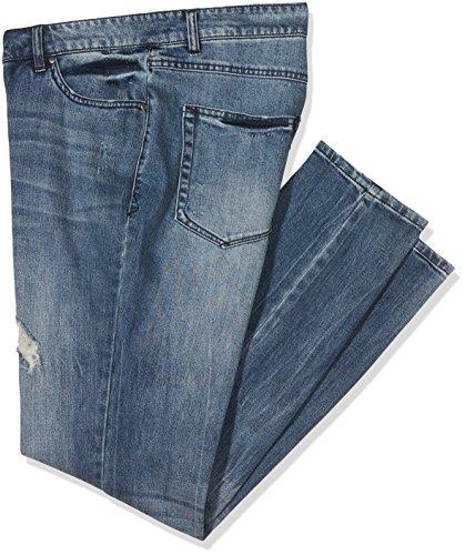 Studio Untold Große Größen Damen Jeans Skinny Blau (Bleached 92), 46 (Plus Jeans Weites Größe Bein)