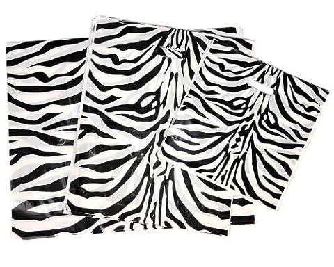 25 Luxury Zebra Design Plastic Carrier Bags 22
