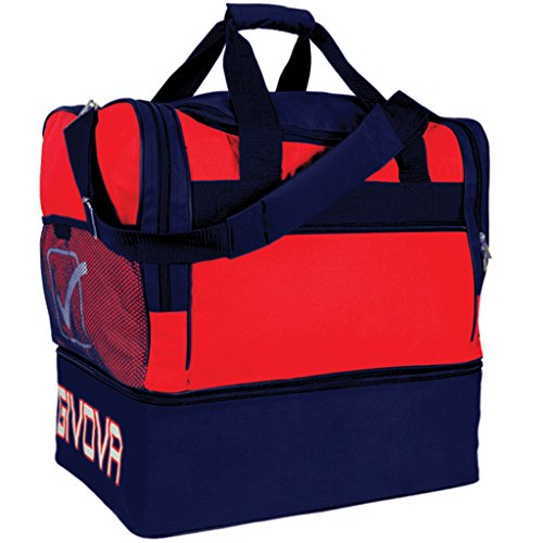 Givova big 10, borsa unisex – adulto, multicolore (red/blu), 45 cm