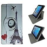 Case Cover für Samsung GALAXY Tab S2 9.7 T813N Tablet Schutzhülle Etui mit Touch Pen & Standfunktion - 10.1 Zoll Eifelturm Paris 360˚