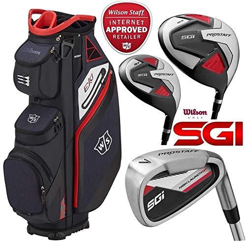 Wilson Prostaff HDX Komplette Golf Club Alle Graphit Set & 2018 Ionix Stand Bag Neu Alle Schläger sind mit Graphitwellen ausgestattet