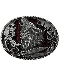 Howling Wolf Belt Buckle including Presentation Box
