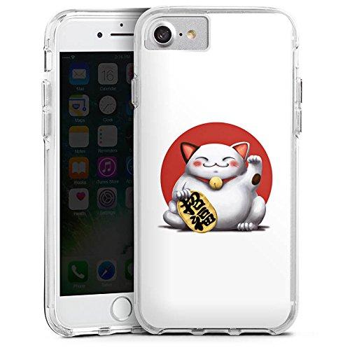 Apple iPhone 6s Bumper Hülle Bumper Case Glitzer Hülle Kawaii Katze Cat Bumper Case transparent