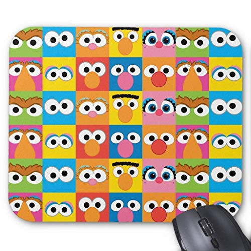 ASKSSD Sesame Street Character Eyes Pattern Mouse Pad 18 Times 22 cm