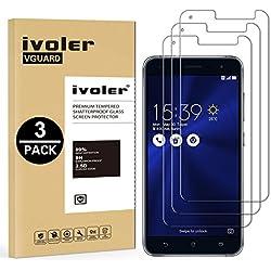 iVoler [Pack de 3] Verre Trempé pour ASUS Zenfone 3 ZE520KL 5.2 Pouces, Film Protection en Verre trempé écran Protecteur vitre