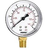 """Industrial 63mm hidráulico Medidor de presión Manómetro de 10bar Vertical 1/4"""""""