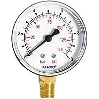 Industrial 63 mm hidráulico medidor de presión vertical manómetro de 10 revisiones 0,64 cm