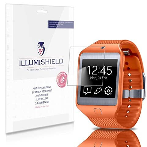 iLLumiShield - Samsung Galaxy Gear 2 Neo Screen Protector Japanese Ultra Clear HD Film with Anti-Bubble and Anti-Fingerprint - High Quality (Invisible) LCD Shield - Lifetime Replacement Warranty - [6-Pack] OEM / Retail