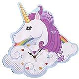 Puckator Orologio da Parete Unicorn a Forma di Unicorno