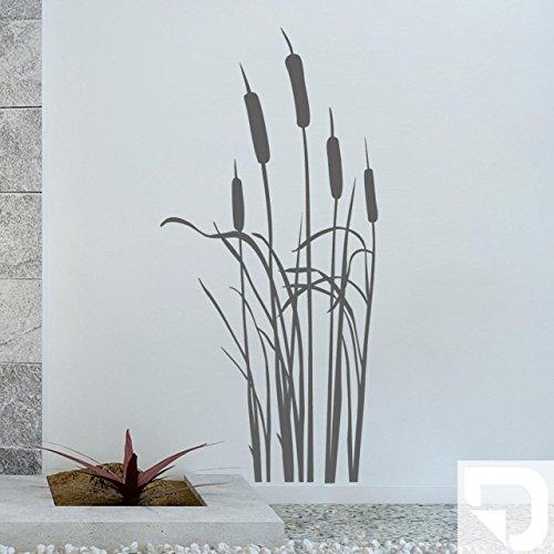DESIGNSCAPE® Wandtattoo Schilfgras - Schilf - Schilfgräser 43 x 90 cm (Breite x Höhe) weiss DW804041-S-F5