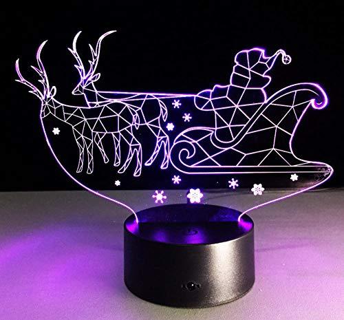 3D Nachtlicht Schlitten 7 Farbe Lampe 3D Visuelle Led Nachtlichter Für Kinder Touch Tisch Baby Schlafen Nachtlicht Home Deco Licht - Farbe Schlitten