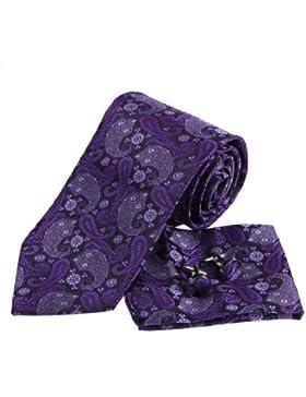 EAC1B06 Hermoso Patr¨®n Familia multicolor para hombre corbata de seda de regalos para pap¨¢ Por Epoint