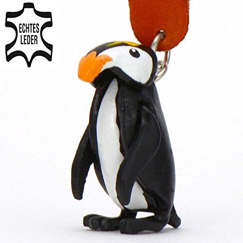 Monkimau Pinguin Leder Schlüssel-anhänger Deko-Figur Charm-s Glücksbringer Kinder -