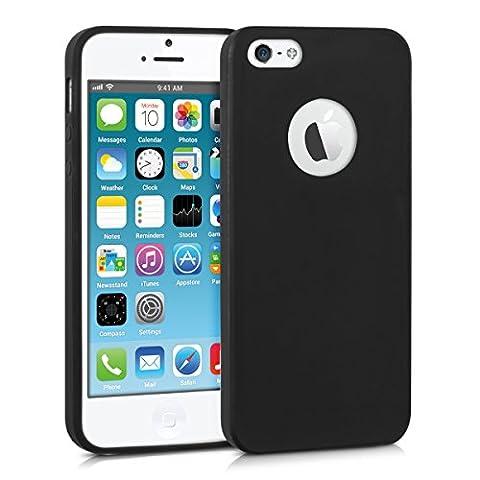 kwmobile Hülle für Apple iPhone SE / 5 / 5S - TPU Silikon Backcover Case Handy Schutzhülle - Cover Schwarz