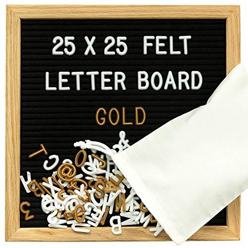 Gadgy ® Fieltro Letter Board 25x25 cm | Retro Tablero