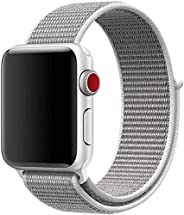 Mezone Nylon Band Compatible with Apple Watch 38mm 40mm 42mm 44mm size, Soft Light-weight Breathable Replaceme