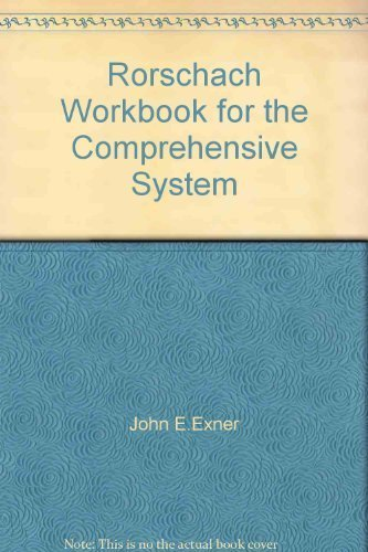 Rorschach Workbook for the Comprehensive System by John E.Exner (2000-01-01)