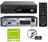 COMAG SL30T2 FullHD HEVC DVBT/T2 Receiver (H.265, HDTV, HDMI, SCART, Mediaplayer, PVR Ready, USB 2.0, Testurteil: Stiftung Warentest 02/2017: 'gut' (Note 2,2)) inkl. HDMI-Kabel, schwarz