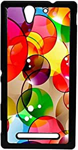 FCS Printed 2D Designer Hard Back Case For Sony Xperia C3