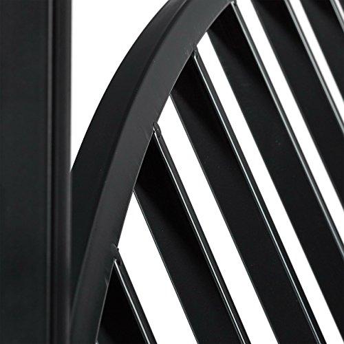 Relaxdays Rosenbogen mit Bank, robustes Metall, 2-Sitzer Deko-Gartenbank, Rankhilfe, HxBxT: 205 x 115 x 50 cm, schwarz - 5