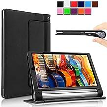 Yoga Tab 3 Pro/Yoga Tab 3 Plus 10 Funda Case, Infiland Folio PU Cuero Cascara Delgada con Soporte para Lenovo Yoga Tab 3 10 Pro / Yoga Tab 3 Plus 10.1 inch Tablet,Negro