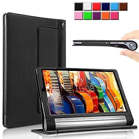 Infiland Lenovo Yoga Tab 3 Pro/Yoga Tab 3 Plus 10 Étui Housse Case- PU cuir Etui En Cuir Végétale Fin De Haute Qualité stand Folio Case Pour La Tablette Lenovo Yoga Tab 3 10 Pro / Yoga Tab 3 Plus 10.1 inch Tablet,