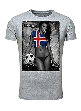 Legendary Items Herren T-Shirt EM 2016 Sexy Girl Frau Fußball Europameisterschaft Vintage Island Iceland