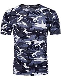 Camisetas Hombre Camuflaje,Venmo Hombres Militares Camisetas Deporte Ropa Deportiva Camisa de Manga Corta de Camuflaje Slim Fit Casual Para Hombres Tops t Shirt Men Gym