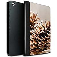 STUFF4 PU Pelle Custodia/Cover/Caso Libro per Apple iPad Mini 1/2/3 tablet / Pine/Conifer Cono / Foto di Natale disegno