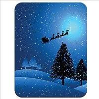 Twas a Starry Snowy Night con Babbo Natale sulla sua slitta volante away di ottima qualità, tappetino per il mouse in gomma con finiture morbide e confortevoli - Volante Slitta