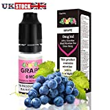Aulola® E Liquid Vape Juice Fruit 10ml for Vapour E Shisha E Cigarette E cig | Vape Liquid Flavouring-No Nicotine (Grape)