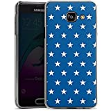 Samsung Galaxy A3 (2016) Housse Étui Protection Coque Étoiles Marine Bleu