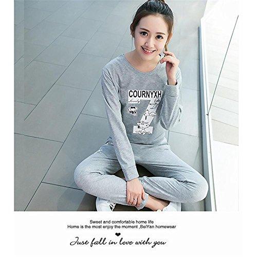 CHUNHUA Au printemps et en automne pyjamas manches longues de Dame coton loisirs sports vêtements slim set l XL XXL XXXL , e , l o
